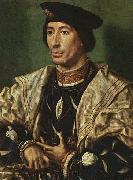 Portrait of Baudouin of Burgundy - Oil on panel Staatliche Museen, GOSSAERT, Jan (Mabuse)